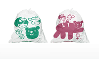 Our art trash bags are used for cleaning activities in various regions.